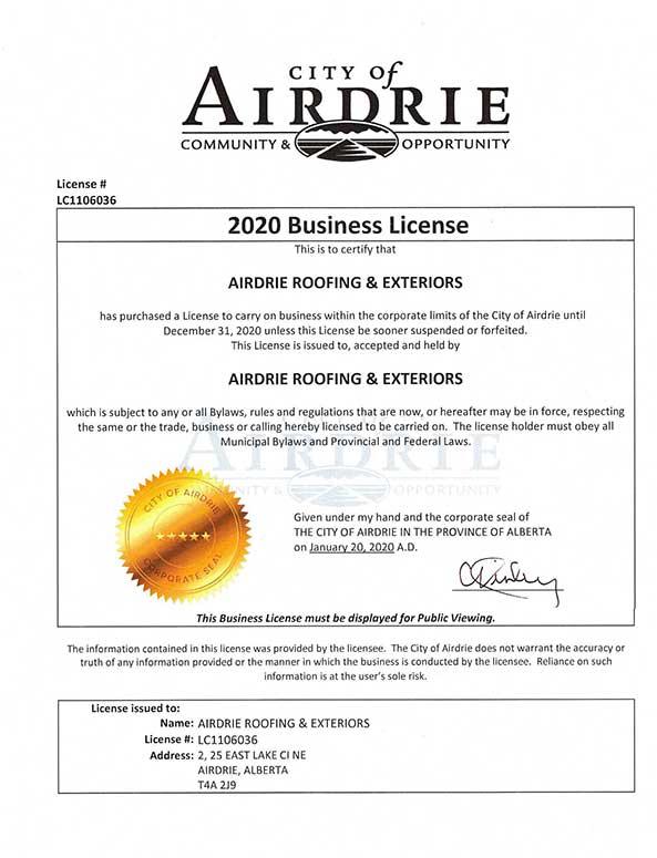 Licenses & Certificates
